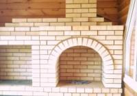 Фотоотчёт о кладке барбекю в частном доме